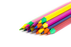 Crayons. A bunch of crayons for the use of children and adults royalty free stock images