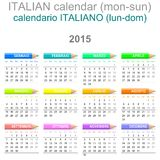 2015 Crayons Calendar Italian Version Stock Photography