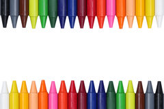 Crayons for children forming a frame