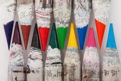 Crayons chinois de couleur image libre de droits