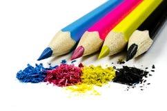 Crayons CMYK Image libre de droits