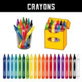 Crayons Collection, Twenty Rainbow Colors Stock Photo