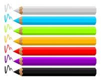 Crayons colorés illustration de vecteur