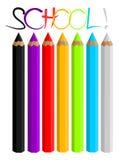 Crayons colorés illustration libre de droits