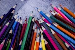 Crayons colorés colorés Photographie stock