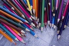 Crayons colorés colorés Photo libre de droits