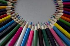 Crayons colorés colorés Photo stock
