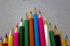 Crayons colorés colorés Photos stock