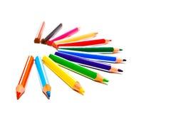 Crayons colorés photo stock