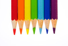 Crayons colorés Photo libre de droits