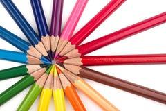 Crayons colorés 2 photos libres de droits