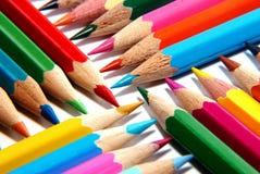 Crayons colorés Photos stock