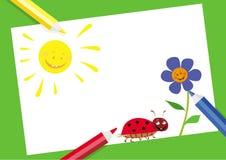 Crayons colorés Images stock