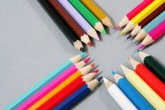 Crayons colorés Photo libre de droits