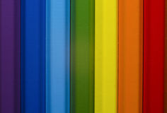 Crayons colorés - arc-en-ciel Photo stock