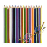 Crayons colorés avec des glaces Photographie stock