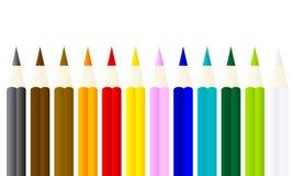 Crayons colorés avec le fond blanc Image stock