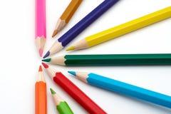 Crayons colorés d'école Photo libre de droits