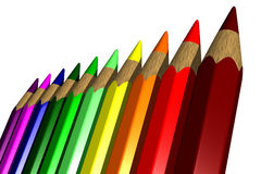 Crayons colorés - 3D Photo stock