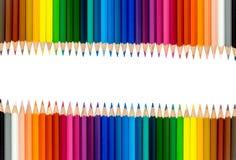 Crayons colorés, d'isolement sur le fond blanc Photographie stock libre de droits