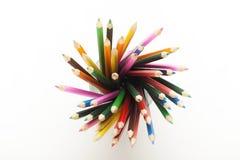 Crayons colorés dans la tasse ! Images libres de droits