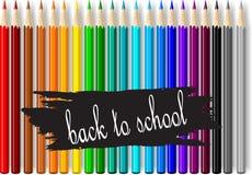 Crayons colorés de crayon Image libre de droits