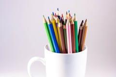 Crayons colorés en cercle Photos stock