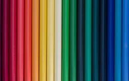 Crayons colorés macro Vue supérieure Photographie stock libre de droits