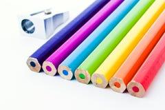 crayons colorés neufs Photos stock