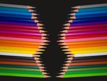 Crayons colorés par bois Image stock