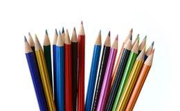 Crayons colorés pointus Photo stock