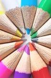 Crayons colorés réglés Images libres de droits
