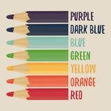 Crayons colorés réglés Photo libre de droits