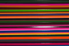 Crayons colorés réglés avec le plein-cadre, Photographie stock