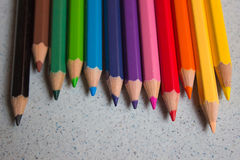 crayons 12color Images libres de droits