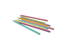 Crayons. Color pencils for art hours Royalty Free Stock Images