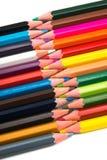 Crayons color?s sur le fond blanc images stock