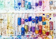 Crayons color tray Royalty Free Stock Photos