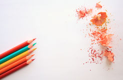 Crayons. Colored Pencils. Colored pencils Royalty Free Stock Photos