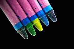 Crayons colorful Stock Images