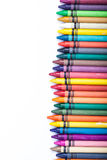 Crayons. Colorful crayons on white background royalty free stock images