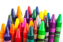 Crayons. Colorful crayons on white background royalty free stock photography