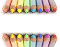 Crayons colorés par arc-en-ciel Photos libres de droits