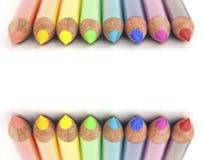 Crayons colorés par arc-en-ciel Photos libres de droits