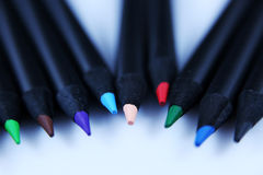 Crayons colorés, vue en gros plan Photo libre de droits