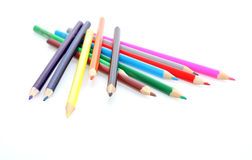 Crayons. Colour crayons on white background Royalty Free Stock Photo