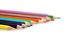 Crayons. Colour crayons on white background Royalty Free Stock Images