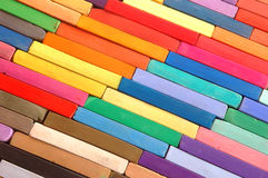 Crayons-colourful background Stock Image
