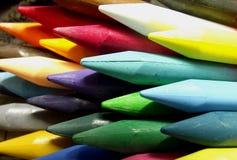 Crayons colourful Stock Photos