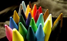 Crayons colourful Stock Photography
